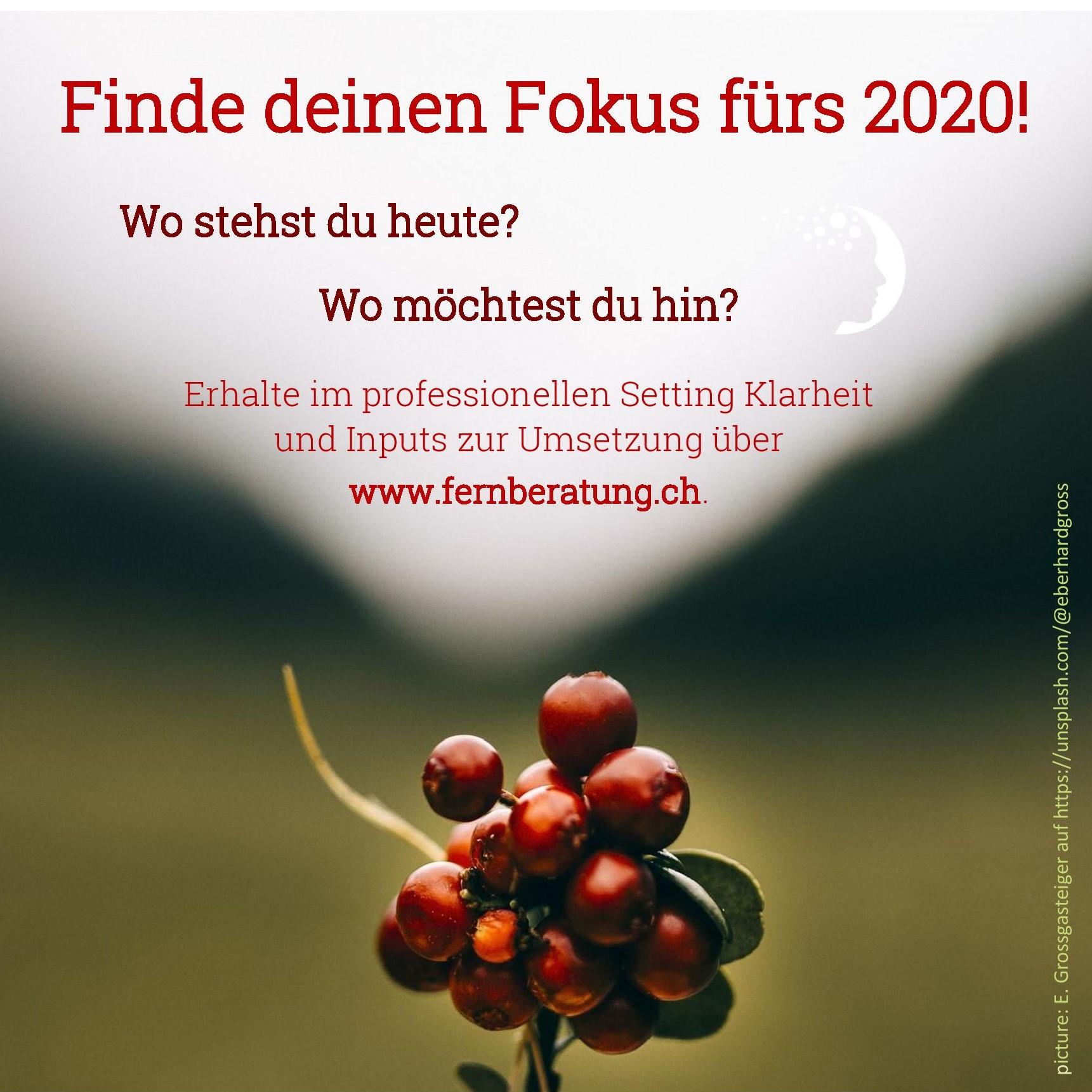 Finde deinen Fokus fürs 2020!